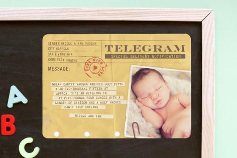 Telegram Birth Announcement Magnets