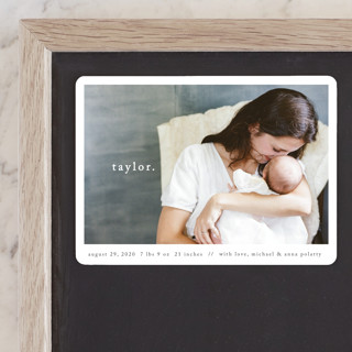Simple Type Birth Announcement Magnets