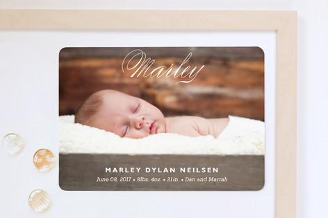 Precious Name Birth Announcement Magnets
