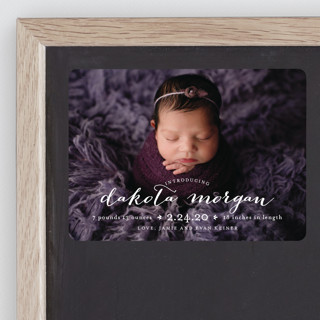 chic baby Birth Announcement Magnets