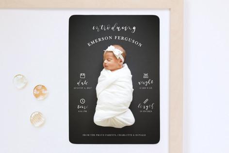 Brushy Love Birth Announcement Magnets