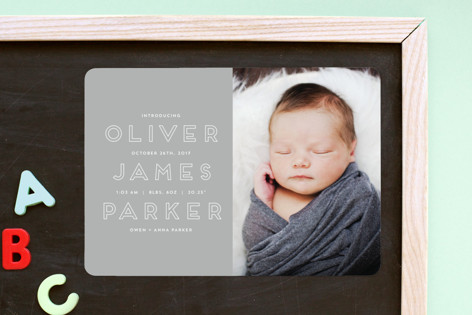 Introduction Birth Announcement Magnets