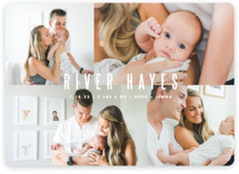 This is a white birth announcement magnet by Lauren Chism called Indie with standard printing on magnet paper in magnet.