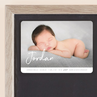 Our Love Birth Announcement Magnets