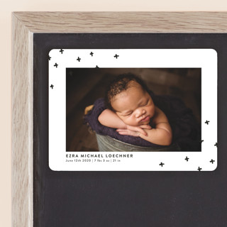 Modern Plus Birth Announcement Magnets