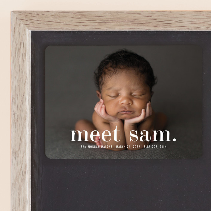 """Meeting"" - Birth Announcement Magnets in Cloud by Up Up Creative."