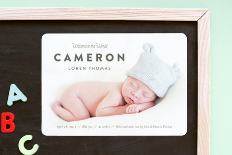 Big Debut Birth Announcement Magnets