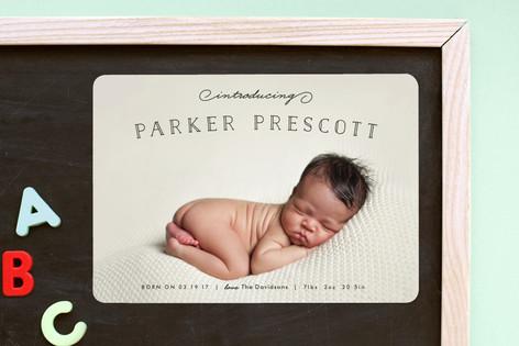 Organic Newborn Birth Announcement Magnets