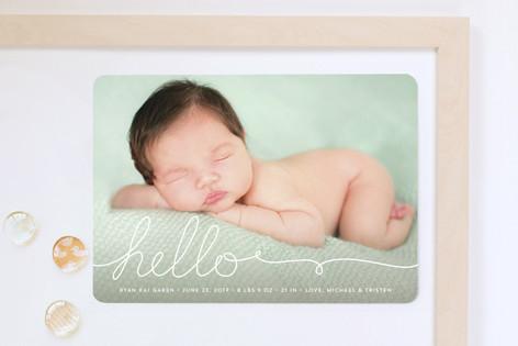 A Handwritten Hello Birth Announcement Magnets