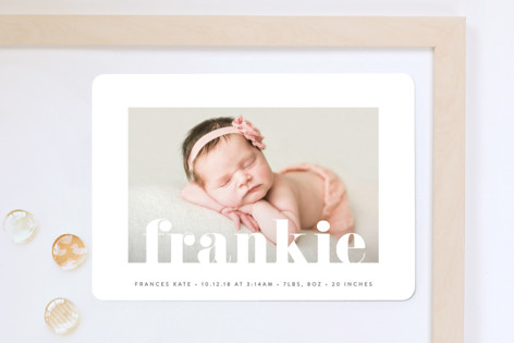 Center Stage Birth Announcement Magnets