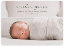This is a black birth announcement magnet by Kasia Labocki called pure grace with standard printing on magnet paper in magnet.