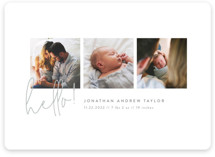 This is a grey birth announcement magnet by Robert and Stella called Camera Roll with standard printing on magnet paper in magnet.