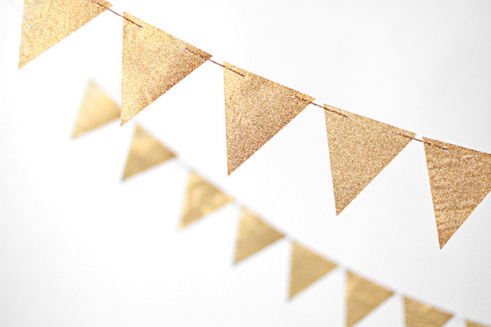Gold 10 ft Glitter Banners