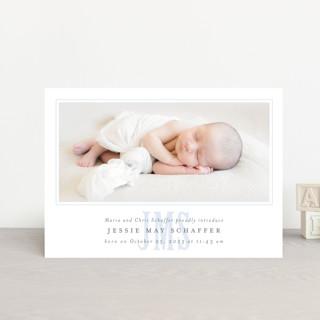 baby announcement postcard
