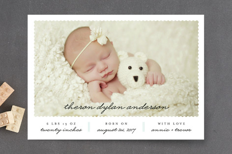 Classic Post Birth Announcement Postcards