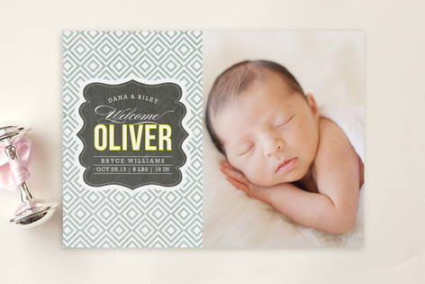 Vintage Paper Birth Announcement Postcards by Grif – Vintage Birth Announcement
