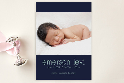 Luxe Birth Announcement Postcards