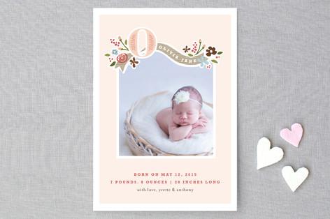 Fairy Tale Beginnings Birth Announcement Postcards