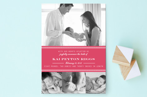 Sweet Arrival Birth Announcement Postcards