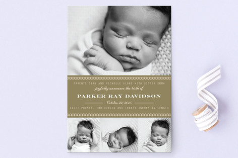 Oliver Birth Announcement Postcards