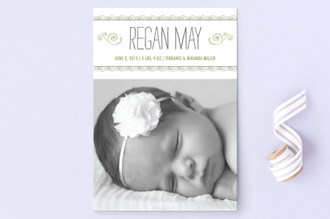 Curlicues Birth Announcement Postcards