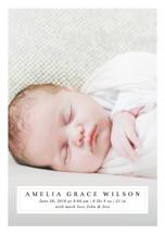 Simple Elegance Birth Announcement Postcards