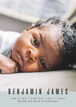 BELLO Birth Announcement Postcards