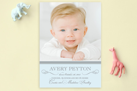 Sweet Sophistication Birth Announcement Postcards