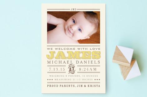 Wild West Baby Birth Announcement Postcards