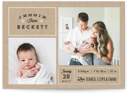 Headlines Birth Announcement Postcards