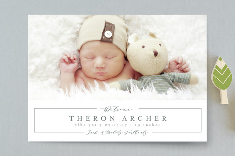 Sweetly Simple Birth Announcement Postcards