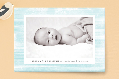 Painted Birth Announcement Postcards