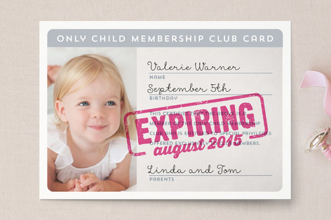 Membership Expiring Soon Birth Announcement Postcards