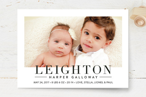 Bold Announcement Birth Announcement Postcards