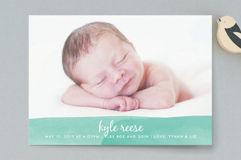Watercolor Wash Birth Announcement Postcards