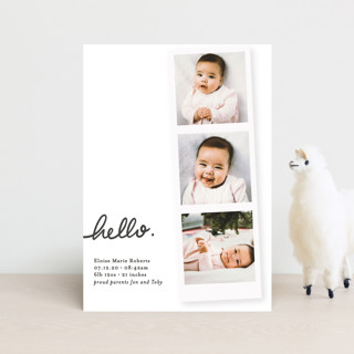 First Snapshots Birth Announcement Postcards