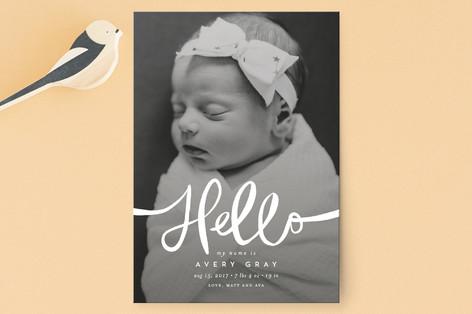 Warm Hello Birth Announcement Postcards