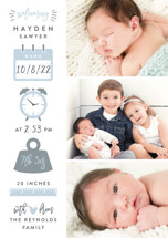 Measures Of Love Birth Announcement Postcards By Hooray Creative