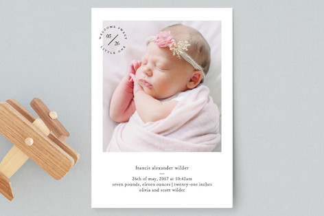 Sweet Little Stamp Birth Announcement Postcards