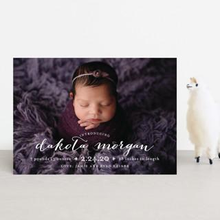 chic baby Birth Announcement Postcards