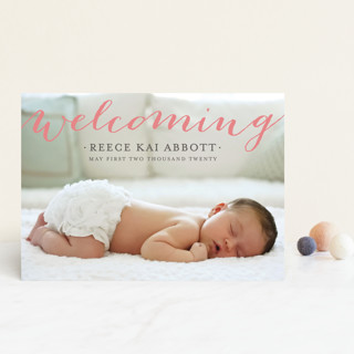 Welcoming Birth Announcement Postcards