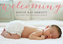 Welcoming Birth Announcement Postcards By michelle hatsushi