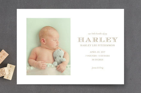 Nantucket Birth Announcement Postcards