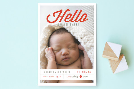 Tagged with Love Birth Announcement Postcards