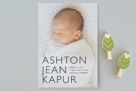 Baby Mine Modern Birth Announcement Postcards