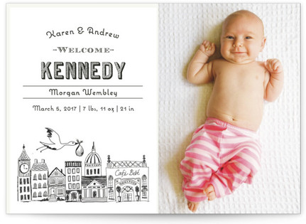 Vintage Storybook Birth Announcement Postcards