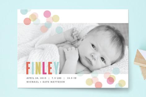 Confetti Birth Announcement Postcards