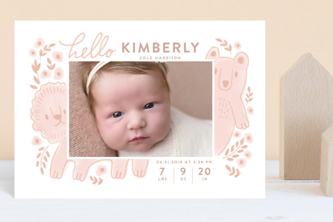 The two happiest friends Birth Announcement Postcards
