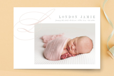 Lyric Birth Announcement Postcards