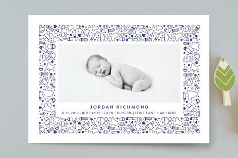 All the Accessories Birth Announcement Postcards